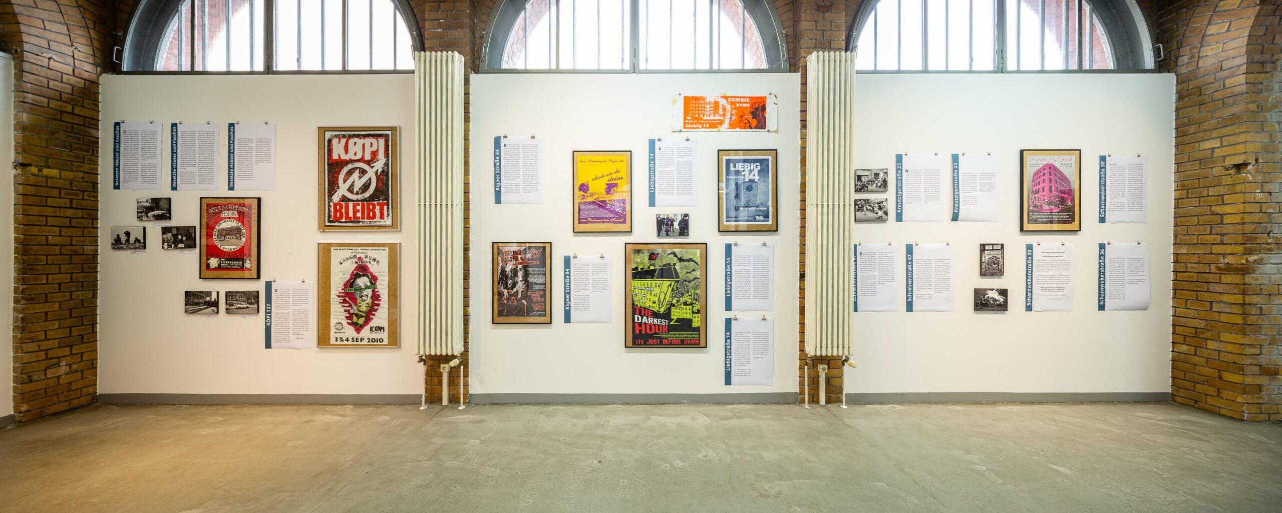 Häuser besetzen sowieso! Eine Ausstellung im projektraum alte Feuerwache, Berlin Friedrichshain. 11. Dez. 20 – 6. Feb. 21. Ausstellungsansicht. Foto: Giovanni Lo Curto.